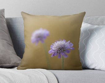 gold pillow cover, flower pillow, gold cushion cover, gold home decor, shabby decor, natural home decor, flower cushion, yellow, lilac