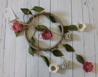 Rose Felt Flower Mobile