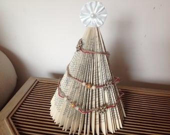 Book Fold Christmas Tree Sculpture Home Decor