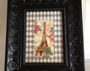 Black Ornate Frame, French Chic Black Ornate Frame, Fancy Black Frame