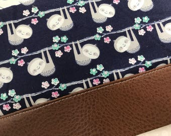 Kawaii Sloths Clutch with Faux Leather