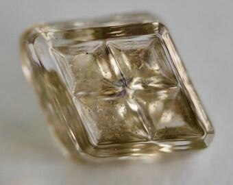 Diamond Shaped Glass Button