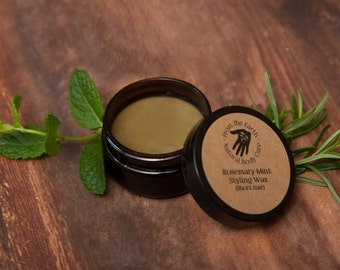 Rosemary Mint Styling Wax-other scents available! all natural, organic hair styling product (short hair), pomade, clay, coconut oil, beeswax