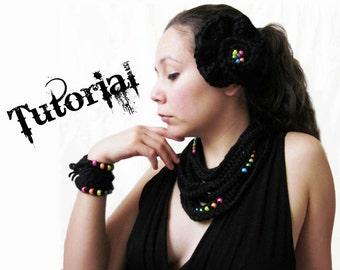 Beaded Crochet Tutorial  - Infinity Bracelet, Necklace, and Hair Clip
