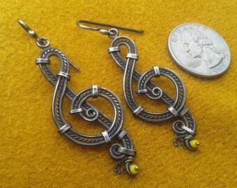 sterling silver earrings oxidized silver