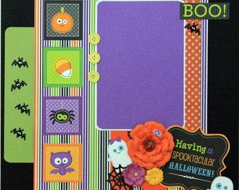 "Premade Scrapbook Page 12 x 12 ""Spooktacular Halloween"""