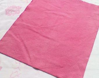 Teinté à la main laine tissu - rose fandango - rug hooking - applique et l'artisanat - primitive d'artisanat - quilting lumière - couture - rose - 040
