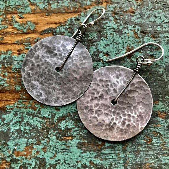 Medium Sterling Disk Earrings