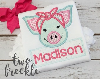 Farm Pig Shirt, Personalized Pig Shirt, Farm Animal Shirt