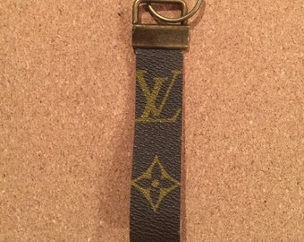 Louis vuitton keyfob upcycled from authentic Louis Vuitton canvas