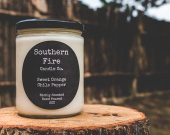 Sweet Orange Chili Pepper Candle