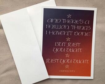 Hamilton Quote Greeting Card