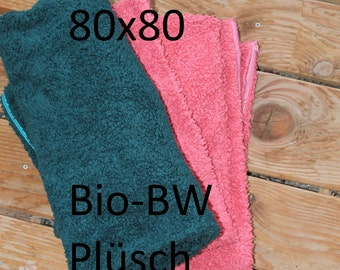 Pillow 80 times 80 organic cotton plush soft cousin zip 80 x 80