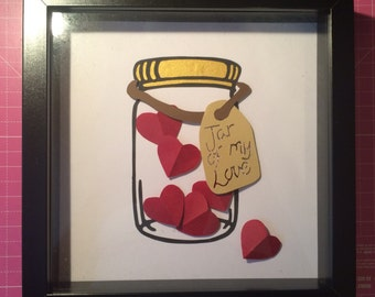 Mason Jar of Love Papercut