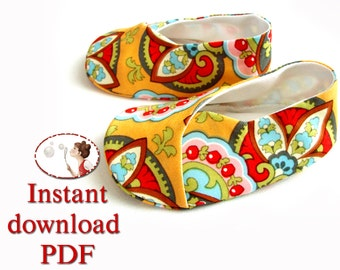 Children's Kimono Shoes Easy Sewing Pattern