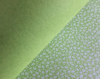 Eighteen Sheets of Green Japanese Paper for Arts, Crafts, Scrapbooking, Book Arts