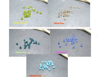 Set of 20 4mm faceted bicone glass/crystal charm