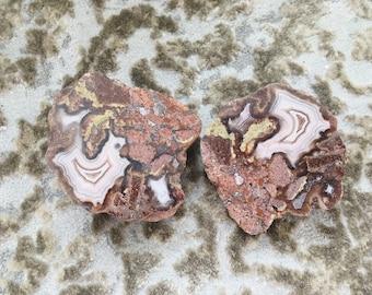 Mineral Specimen for sale - Set of 2 Agates - polished