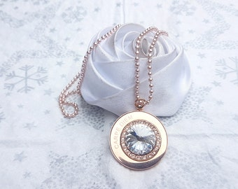 carpe diem pendant necklace and its crital gold