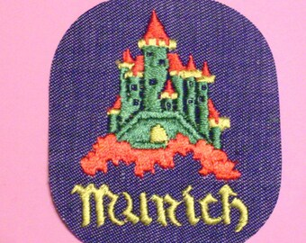 Munich Germany Ancient City Collectible Vintage 1970's Sewing Patch Applique