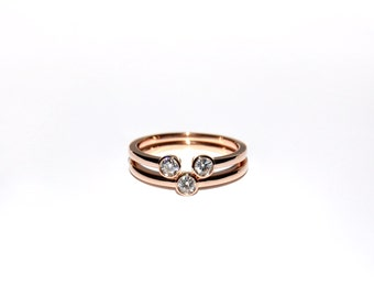 18K Diamond Bezel Solitaire Ring