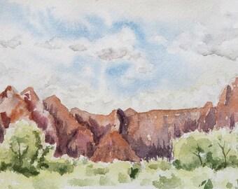 41/100 Watercolor Landscape | Original Watercolor | Watercolor Landscape | Painting | Landscape Painting
