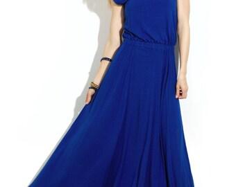Cobalt Blue maxi dress Dress floor Prom dress Autumn dress floor Maxi dress for women Long dresses Evening dresses Royal blue long dress