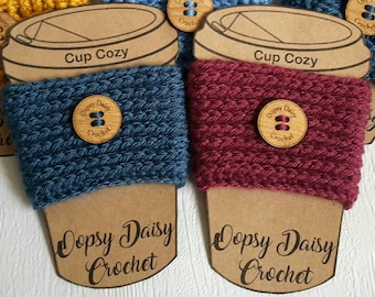 Crochet Cup Cosy, Cup Cozy, Coffee Cup Cosy, Travel Cup Cosy, Gift for Her, Gift for Him,  Stocking Filler, Travel Cup Sleeve, Teacher gift