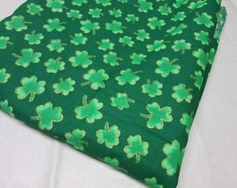 Green Shamrock Cotton Fabric 1.5 yards