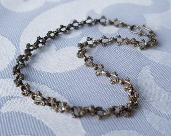 Vintage Sterling Silver Bracelet, Vintage Sterling Chain Bracelet, Sterling Silver Bracelet, Sterling Bracelet, Chain Bracelet