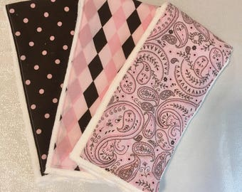 Burp cloths for baby girl, burp cloth sets for baby girl