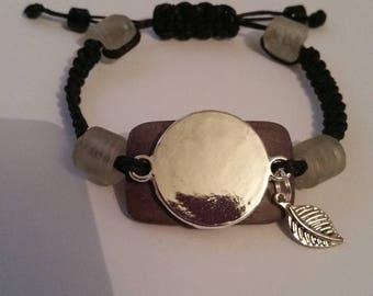 bracelet fantaisie en macramé à graver