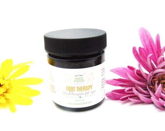 Foot Therapy Balm - Cocoa Foot Balm - Senior Care Gift Foot Care - Dry Skin Feet - Heel Balm - Athlete Foot Balm - 1.8oz