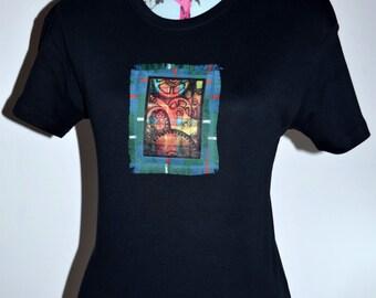 Steampunk Shirt,  tartan custom made t-shirt, unique novelty gift ideas