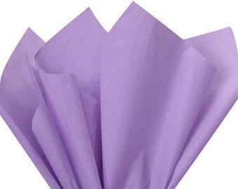Soft Lavender Tissue Paper, Light Purple Tissue Paper . 20 x 30 inches . 24 sheets