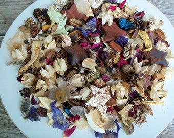 Americana Country Potpourri, Stars, Scented, Rustic, Saltdough, Red, White, Blue, Patriotic, 4th of July Potpourri, Refresher Oil Included