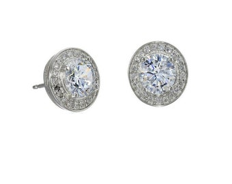 Cubic Zirconia Stud Earrings Bridal Earrings Best Stud Earrings Best Gifts For Her