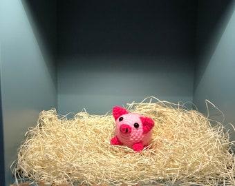 Amigurumi Pig , Handmade Crochet Toy