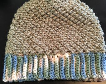 Handmade Raspberry Stitch Crocheted Slouch Hat