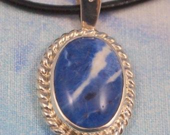 Sodalite Pendant in Sterling Silver