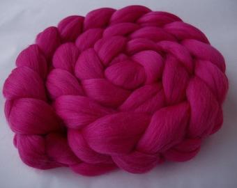 Merino wool roving, roving wool, spinning fiber, wool for felting, merino wool tops, 20 mic, unspun wool, PINK,dreads,dolls hair,3.5oz, 100g