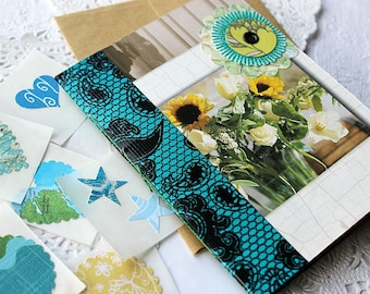 Journal Card, Hand Bound Journal, Greeting Card, Mini Journal, Handmade Card