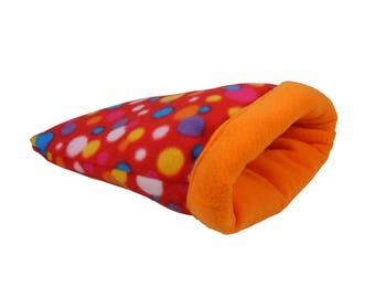 Guinea Pig Bed - Hedgehog Bed - Ferret Bed - Rat Bed - Fleece Sack - snuggle sack, cage accessories, hedgehog cage, guinea pig cage