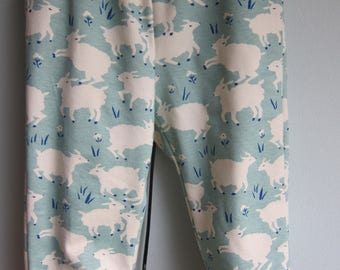 Counting Sheep cuffed pants, Baby pants sheep motive,  Lambs in Spring, Easter size 12 mo