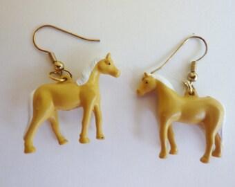 Vintage Palomino Pony Earrings