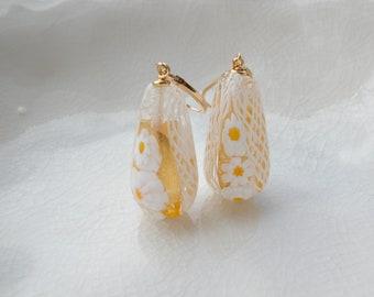 Murano Millefiroi Zanfirico Glass Earrings