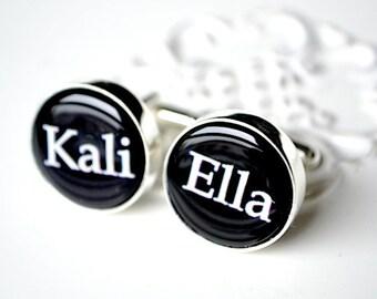 Custom name cufflinks, timeless mens jewelry keepsake gift, classic cuff link accessories