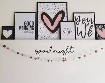 Goodnight Nursery Decor ~ Goodnight Wall Art ~ Goodnight Nursery Wall Stickers ~ Nursery Wall Decals ~ Wall Decals Wall Stickers ~ Goodnight