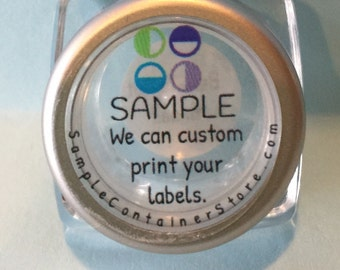 "120 -  Custom Printed 1"" Round Laser Labels Full color printing - Read entire listing for instructions"