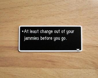 Jammies - Earthbound Dialog Box